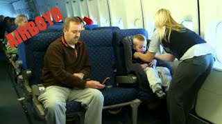 installing a car seat on a plane 2010