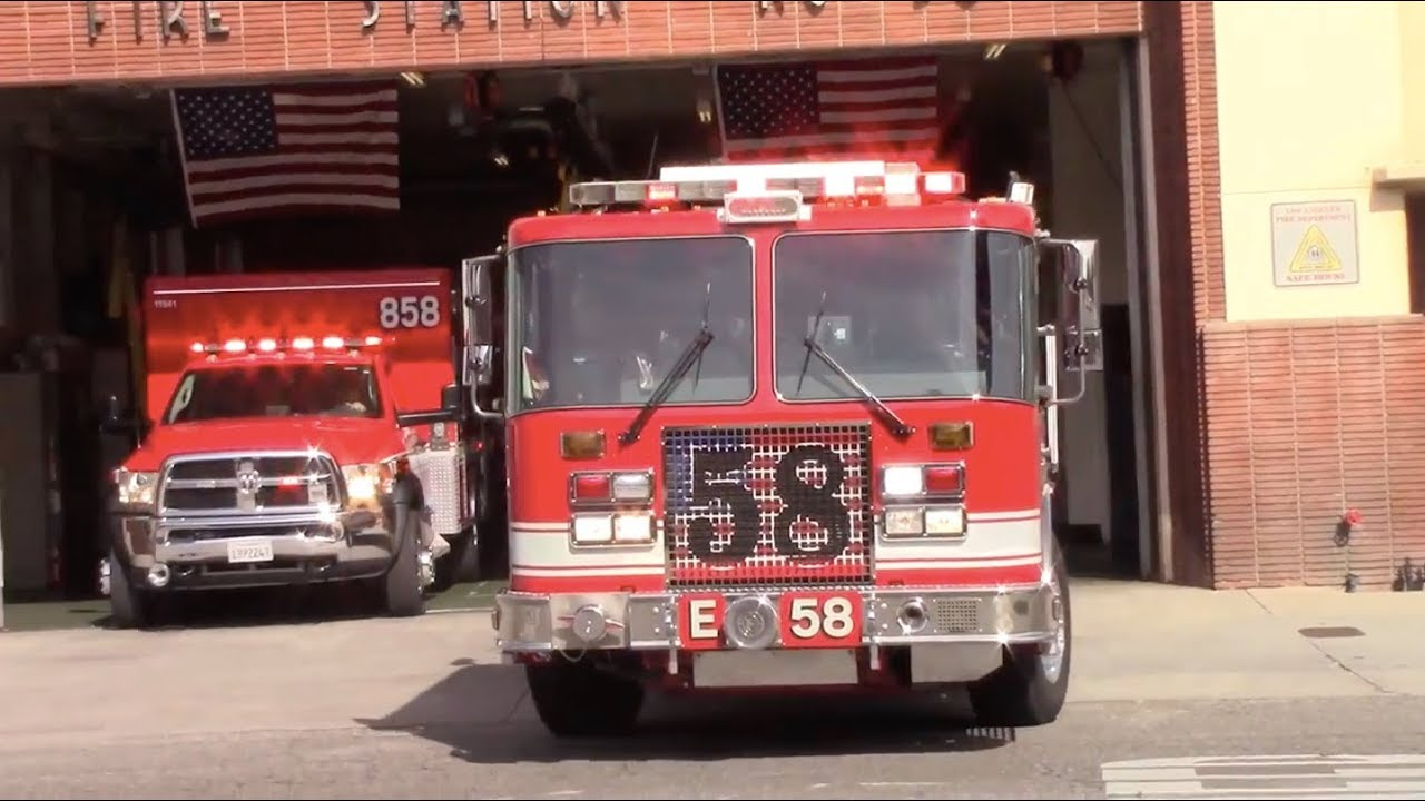 LAFD Station 58 Response Compilation