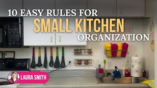 10 Easy Rules for Small Kitchen Organization | No Pantry? No Problem!