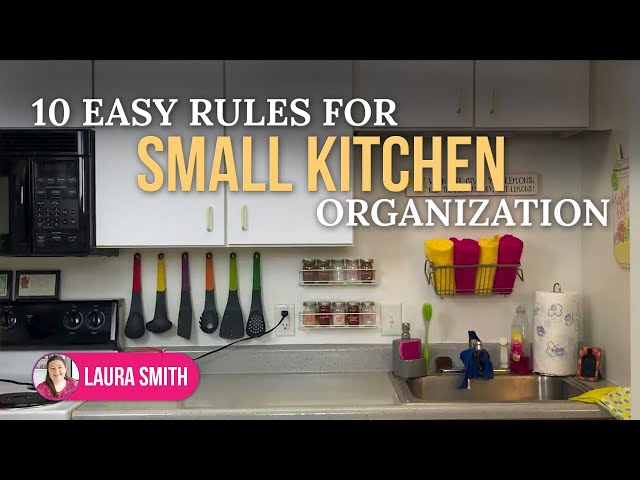 10 Easy Rules For Small Kitchen Organization No Pantry No Problem Youtube