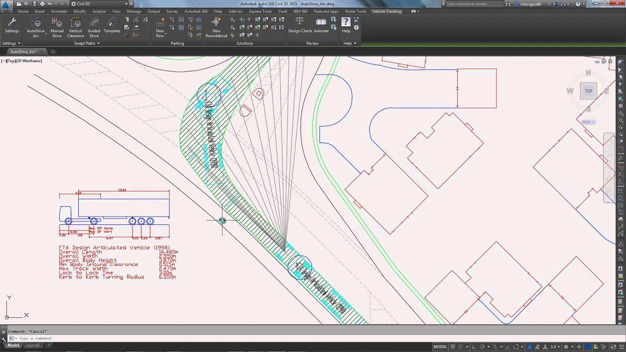 Autodesk Vehicle Tracking: Swept Path