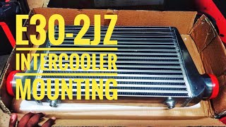 E30-2jz Intercooler Mounting