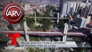 Supuesto entierro a borrachos vivos dentro de edificios y puentes | Al Rojo Vivo | Telemundo