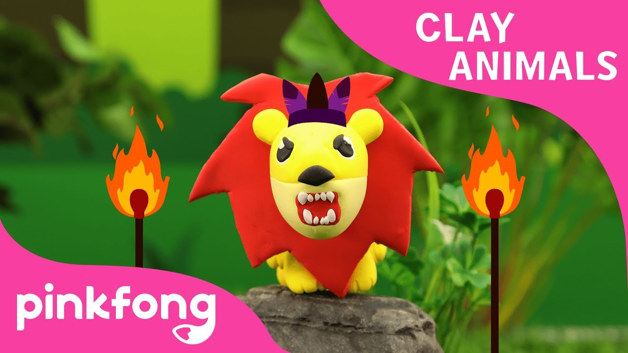 How to make Lion with Clay | Clay Animals | Animal Songs | Pinkfong Clay Time for Children