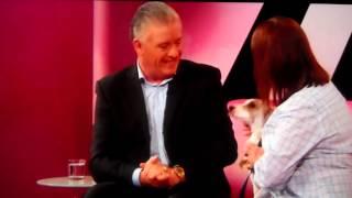 Derek Acorah talking to a dog