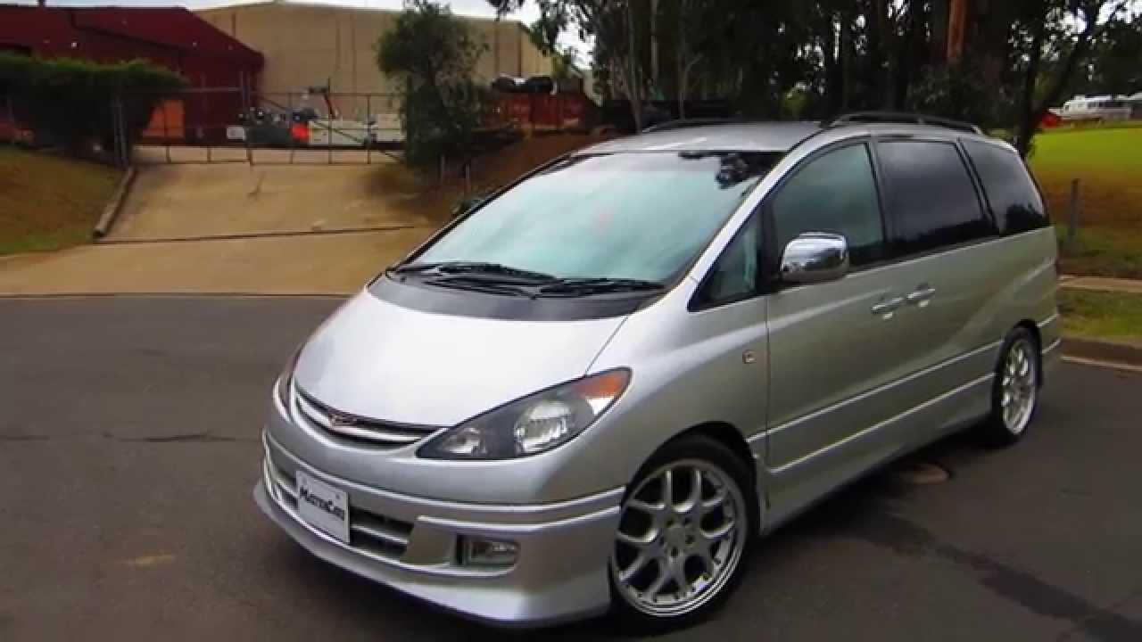 Cn2009 Silver Toyota Estima Aeras 2001 Model
