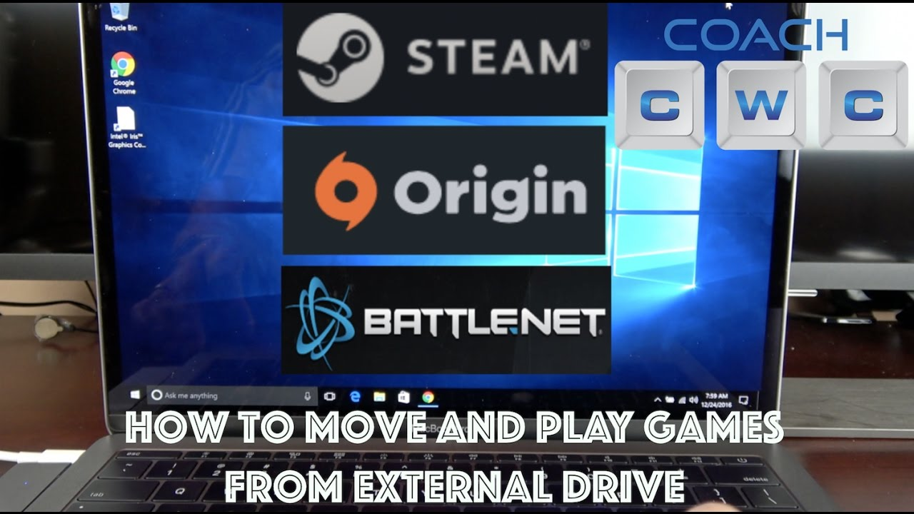 How To Play Games On External Drive Steam Origin And Battlenet Youtube