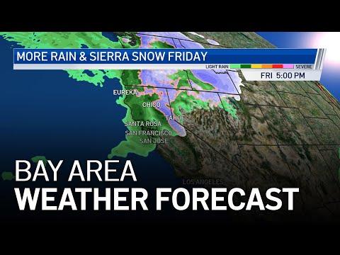 Bay Area Forecast: Rain Chances & Sierra Snow