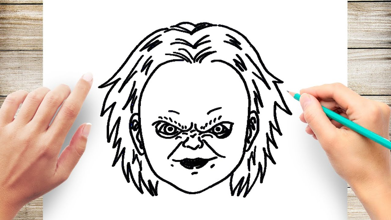 How To Draw Chucky Step By For Kids
