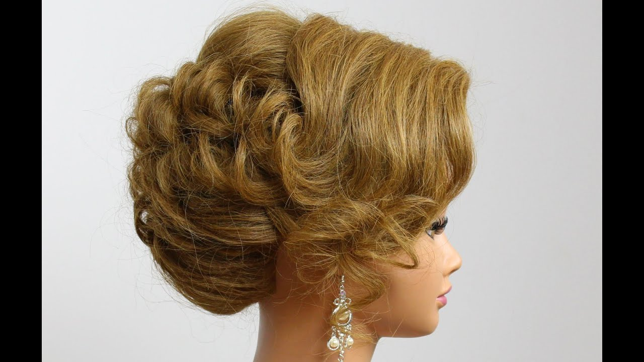 Wedding Hairstyle For Medium Hair. Prom Bridal Updo