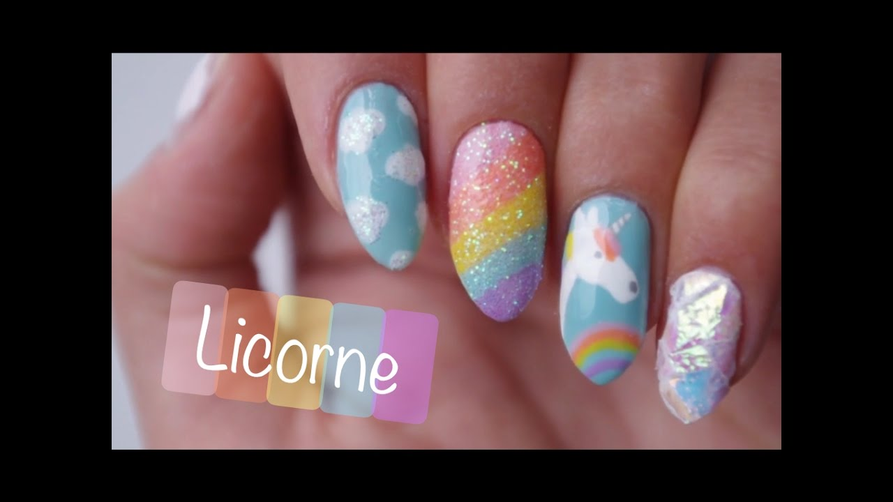 Favorit T.N.A] Nail Art Facile : Licorne♡ - YouTube WS54