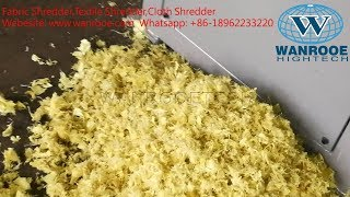 Fabric Shredder,Textile Shredder,Cloth Shredder,Carpet shredder,Single Shaft Shredder