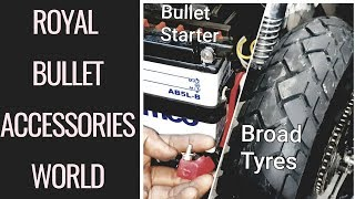 Broad Tyres Installation & Start Your Bullet Without Battery