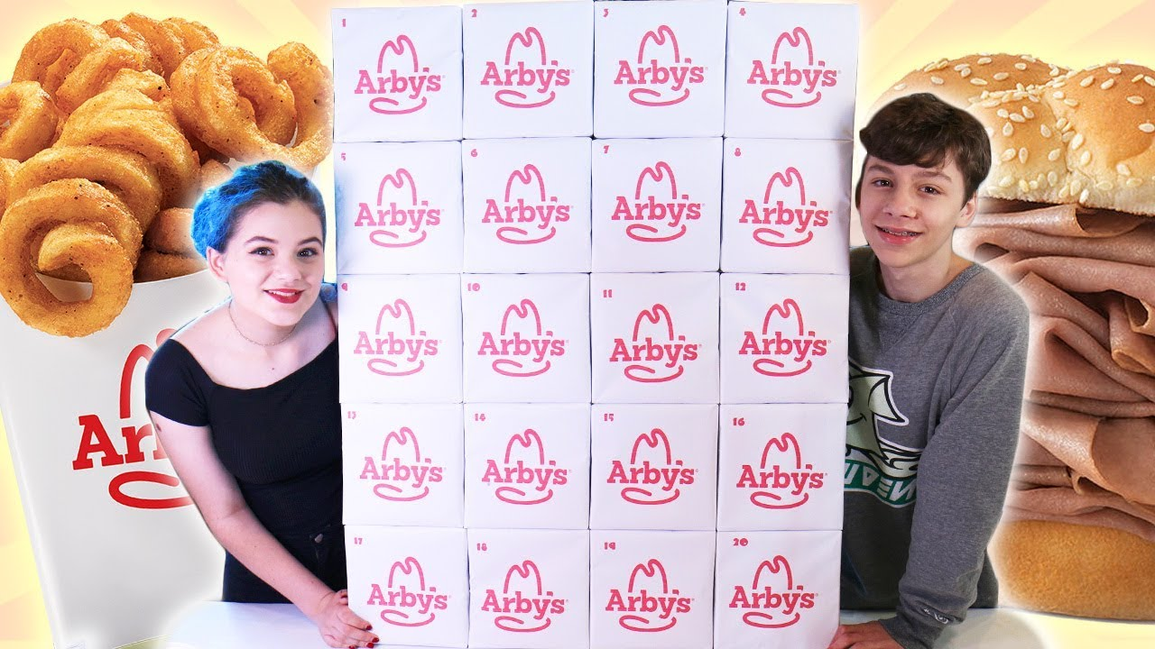 Giant Arby S Advent Calendar Fast Food Eating Show 2018