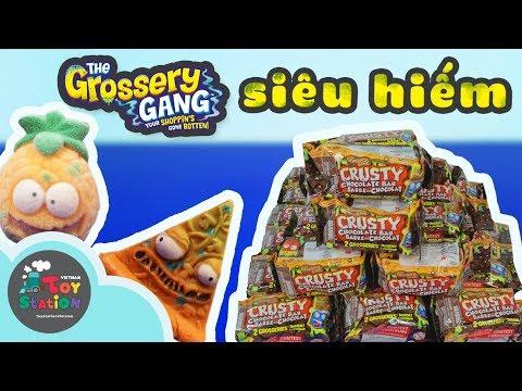 ToyStation 86 - Săn siêu hiếm, ultra rare, trong 30 thanh Crusty Chocolate, Grossery Gang
