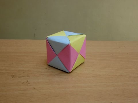 How to Make a Paper Colourful 3D Cube - Easy Tutorials
