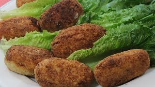 Chicken And Ham Croquettes Fried In Coconut Oil