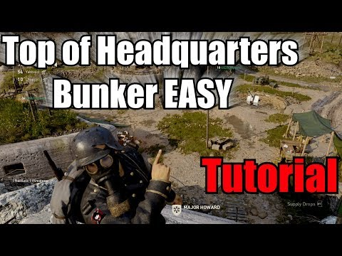 How To Get On Top of Headquarters Bunker Easter Egg Glitch & get ball in COD WW2 Headquarters