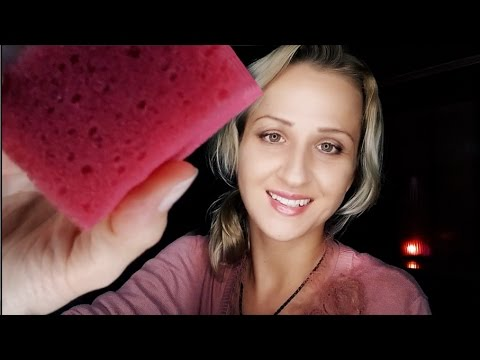 💧SPONGY ASMR Spa and Face Cleaning 💧 Spraying Directly Onto Your Face | Soothing Social Anxiety