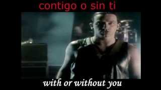 U2 - With Or Without You Subtitulado Español Ingles