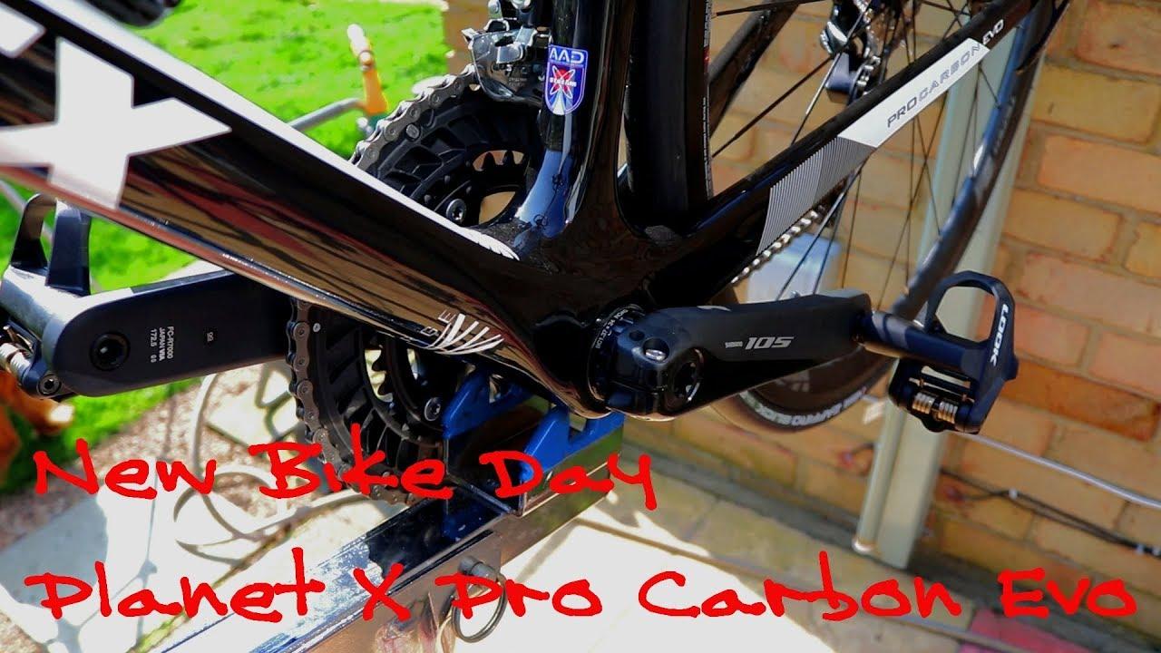 4020b619078 New Bike Day - Planet X Pro Carbon Evo - YouTube