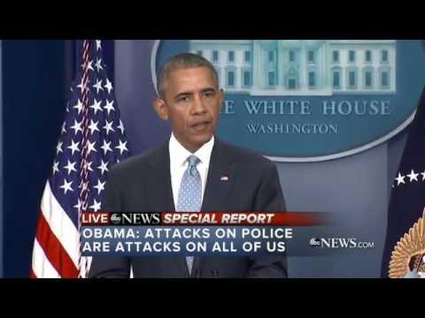 BREAKING Obama Speech #BLUElivesMATTER Black Marine kills 3 Cops July 17 2016 News