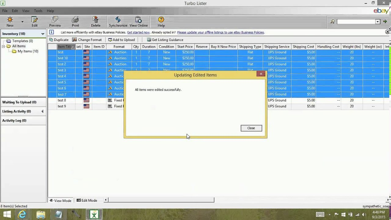 Turbo lister how to bulk edit items tutorial youtube turbo lister how to bulk edit items tutorial maxwellsz