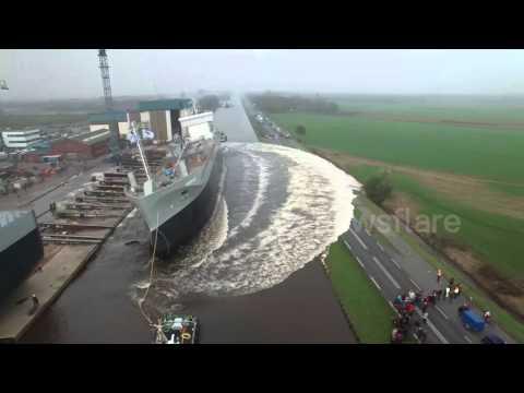 M.V. GREENLAND Launch | Stapellauf | Tewaterlating by DJI Phantom 3 Drone @ Ferus Smit