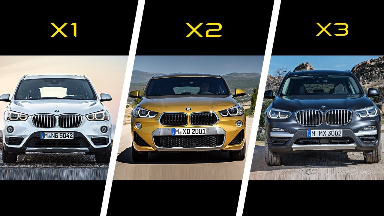 2017 Bmw X1 Vs 2018 Bmw X2 Vs 2018 Bmw X3 Youtube