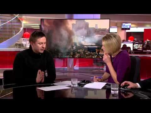 'It's war between Ukrainian people & Yanukovich regime' says protest leader   BBC News avi