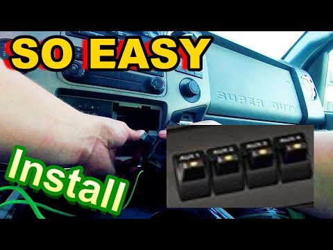 How To INSTALL Ford UPFITTER Switches??!! (So EASY)!!!