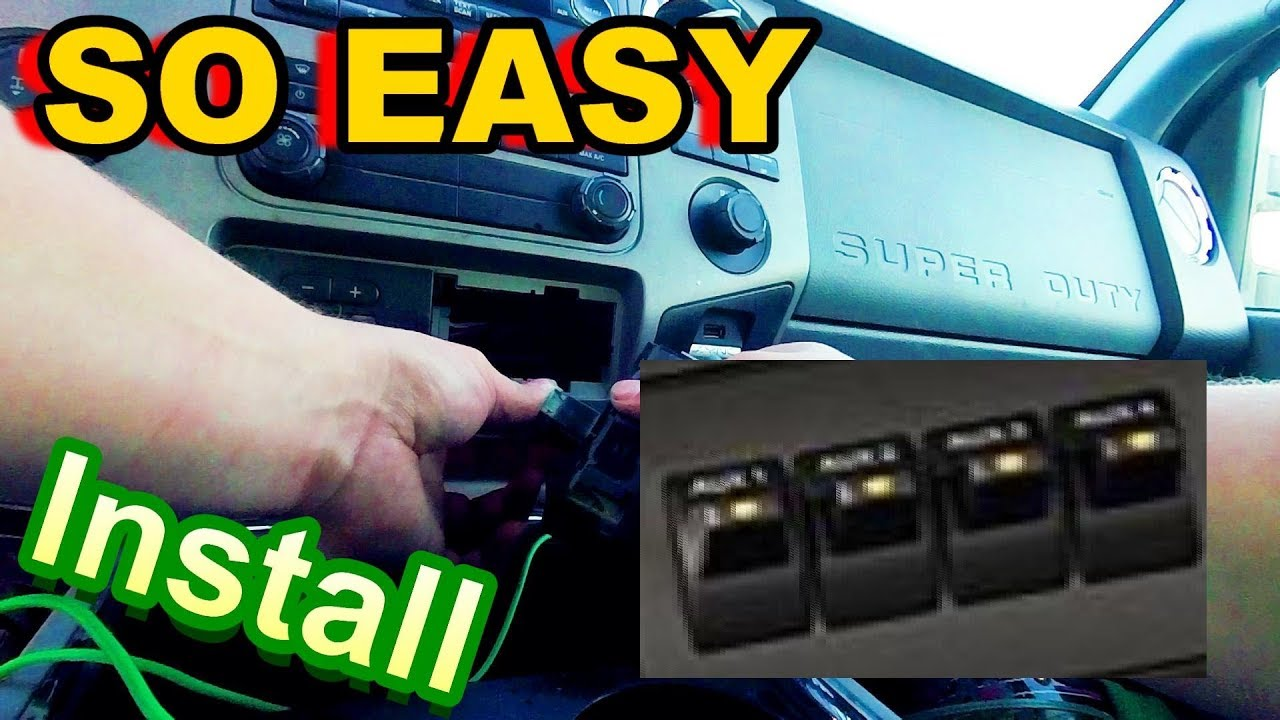 how to install ford upfitter switches so easy  [ 1280 x 720 Pixel ]