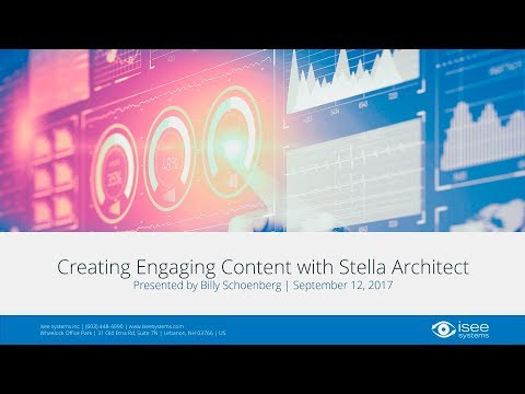 Creating Engaging Content with Stella Architect