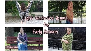 Light Crocheted Shawls for early Autumn