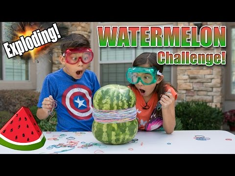 Exploding Watermelon challenge