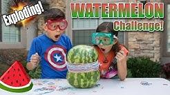 EXPLODING WATERMELON CHALLENGE!