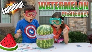 EXPLODING WATERMELON CHALLENGE!