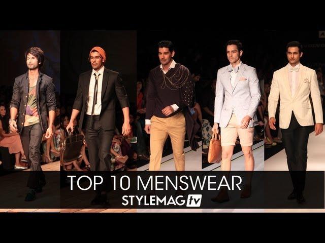 Top 10 Menswear At Lakme Fashion Week Summer Resort 2013 Youtube