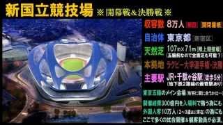 ラグビーW杯2019日本大会 開催12都市・全試合会場 Rugby World Cup JAPAN 2019 Stadiums