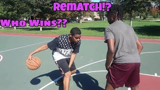Rematch!? 1 V 1 Basketball Game KDM VS OTB!! (Game 2)