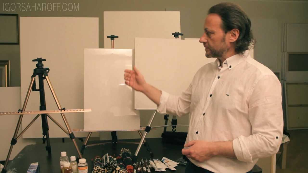 Что нужно для живописи маслом? Мои художественные принадлежности .