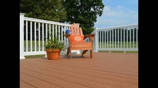 plastic wood decking have many types and colors
