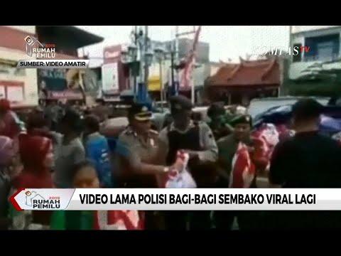 Viral Video Polisi Bagi Sembako, Polisi Pastikan Video Tidak Terkait Pilpres 2019