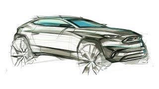 자동차 스케치 & 디자인(BMW X2)