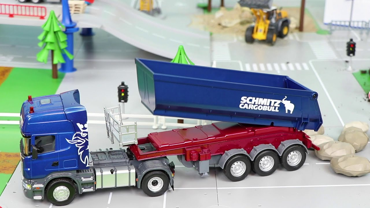 Tractor, Fire Truck, Excavator, Garbage Trucks & Police Cars Construction Toy Vehicles for Kids