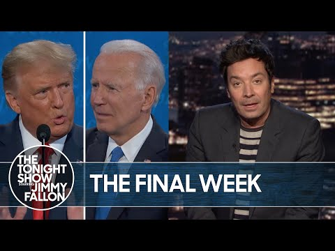 Trump and Biden Campaigns Go All Out Week Before Election | The Tonight Show