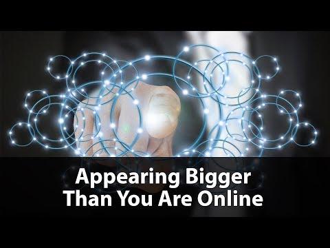 [LIVE] UnderstandingE Webinar - Appearing Bigger Than You Are Online