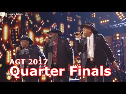The Masqueraders  I'm Just An Average Guy w Judges Comments Quarter Finals AGT t 2017 Live Round 2