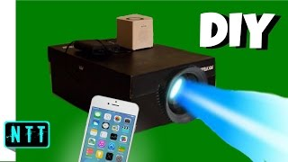 DIY Smartphone Projector - How To Make A Shoebox Projector 2017