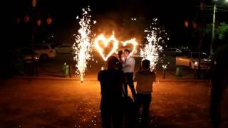 Огненное сердце на свадьбу  4500 руб